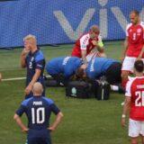Christian Eriksen se desploma